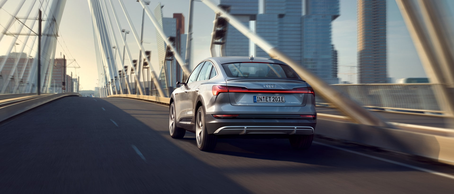 Audi e-tron Sportback on a bridge